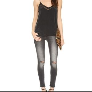 Anine Bing Distressed knee ripped Jean's
